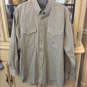 Roper EUC plaid Button Down Western Shirt L